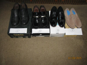 Three pairs of new men`s expensive dress shoes.... $ 50 pair