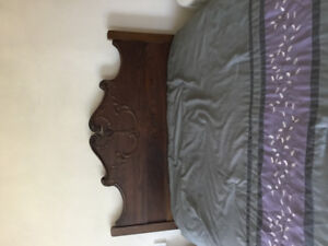 Vintage Matching Bed & Dresser. Takes a double mattress.