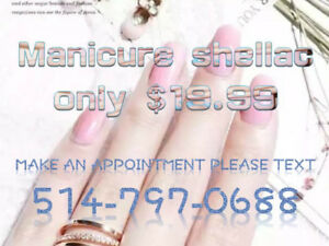 Celebrate Victoria Day Manicure shellac only $19.99 near metro