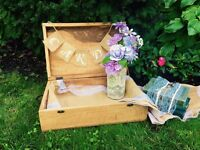 Card boxes, birdcages or suitcase for wedding cards for rent