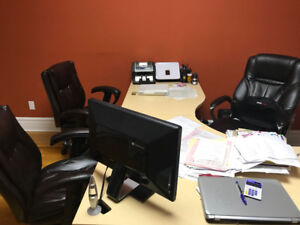 Office Table with Executive Chairs + Forex Platform + Folders