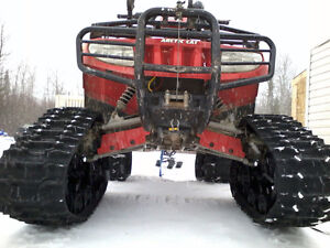 Arctic cat 650 with 2 yr old tracks, plow and mudzilla tires