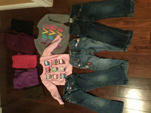 2T and 3T Jeans Pants and Sweatshirts
