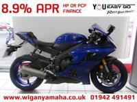 YAMAHA R6, 2018 67 REG ONLY 286 MILES. YZF-R6 BLUE WITH QUICK SHIFTER, ABS...
