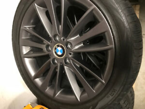"Bmw rims and winter tires 18"" for sale"