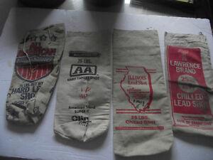 Lead Shot Bags Lot