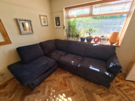 DFS Corner Sofa, swivel chair & foot stool