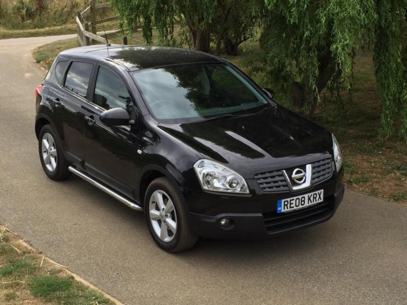 nissan qashqai 2wd tekna 2008 black with black leather 120000 miles in woodbridge. Black Bedroom Furniture Sets. Home Design Ideas