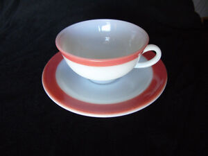 Pyrex Tea Cup/Saucer Pink Flamingo Vintage Peterborough Peterborough Area image 1