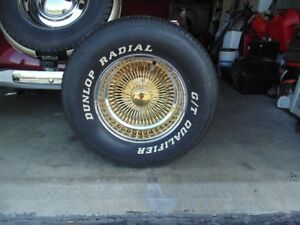 chevy 1938 24 k gold wheels7 tires