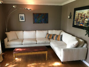 Beautiful Robin Bruce Oslo Contemporary Sectional Sofa w deliver