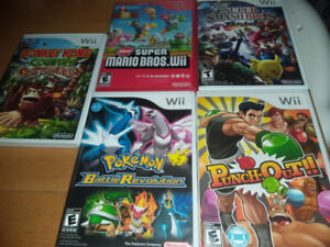 Pokemon, Punch-Out, new Super Mario wii, Donkey Kong Returns