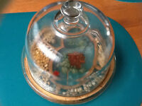 Glass domed cheese dish