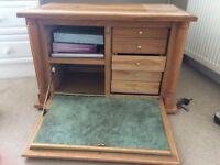 Handmade Oak Cabinet Small Writing Desk