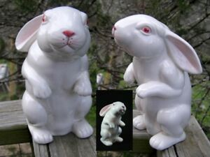 UNIQUE 1975 EASTER BUNNY BY FITZ & FLOYD
