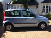 Fiat Panda 1.2 57 plate with air conditioning in metallic blue with service history