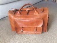 High Grain Leather Weekend Bag