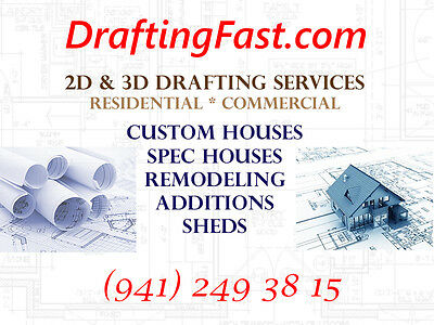House Plan Blueprints Custom Home Design Drafting Services EXPRESS 24H AVAILABLE