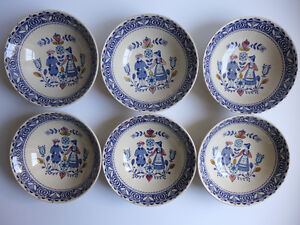 Hearts and Flowers - 6 soup bowls (lot 7)