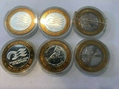 LOT OF 6 TOKENS  3 CRUISE AND 3 LAS VEGAS GAMING TOKENS