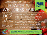 SAVE THE DATE: MISSISSAUGA'S 8TH ANNUAL HEALTH & WELLNESS FAIR!