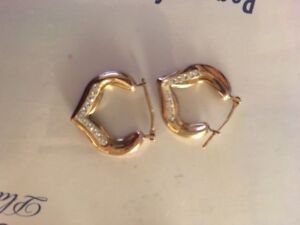 Gold Earrings (wore once)