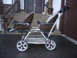 """"""" Price Reduce"""" Peg Perego Duette SW Double Stroller in Java"""