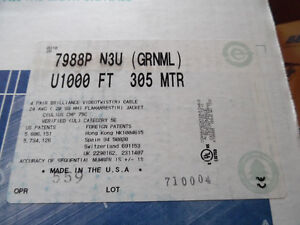 Belden 7988P N3U U1000 Multi-Conductor  4-Pair UTP Cable RGB Kitchener / Waterloo Kitchener Area image 3
