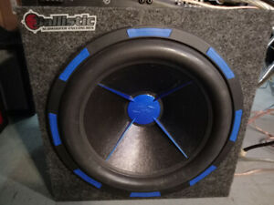 Subwoofer power acoustik MTX ampli