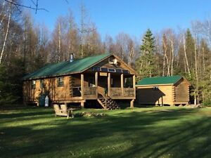 Three bedroom Log Camp on five acres
