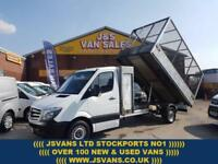 2014 14 MERCEDES-BENZ SPRINTER TIPPER EXTRA L.W.B + CAGED ALLOY LOW MLS 1 OWNER