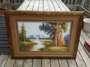 Painting Picture with Frame for Sale