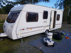 Lunar Quasar 525, 5 berth caravan with awning and mover.