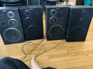 speakers and stereo system