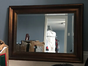 Large traditional mirror with heavy frame