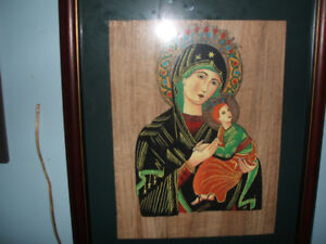 Wonderful Oil Painting Framed & Matted painted on Silk