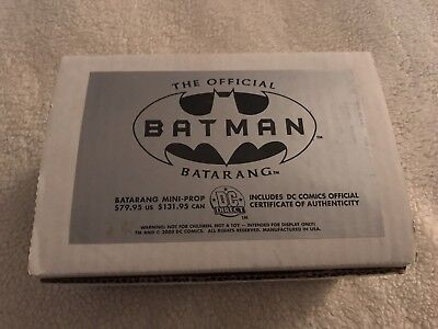 (2000 DC Direct Batman Batarang Official Mini-Prop Replica COA *MIB*)