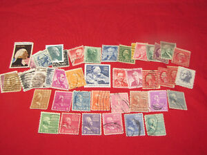 U.S. Stamps -- nearly 150, used