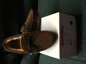 Men's Duke II Spice Lined Suede Moccasins size 8