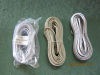 TELEPHONE CABLES  3, STERIO CABLE 1   NEW