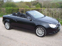 2006 56 Plate Volkswagen Eos 2.0TDI Sport In Black , Summer Fun , Fsh