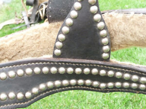 Black leather saddle Strathcona County Edmonton Area image 3