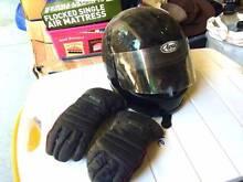 Arai Black Motorcycle Helmet & Magnum Gloves - Size Medium Melbourne CBD Melbourne City Preview