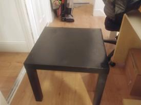 Black square coffee/study table
