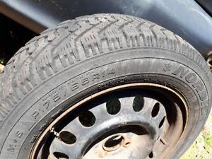 Snow Tires, Goodyear Nordic  on 4 bolt Rims P175 / 65R14