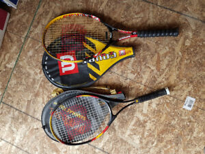 tennis rackets (two)