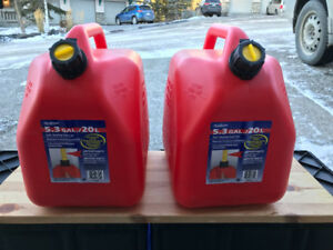 3 Gasoline containers - never used