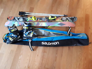 SKIS BOOTS BAG POLES YOUTH