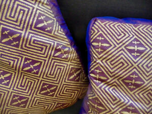 Two Matching Feather Cushions