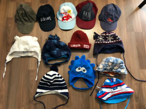 Lots of hats for boys All seasons